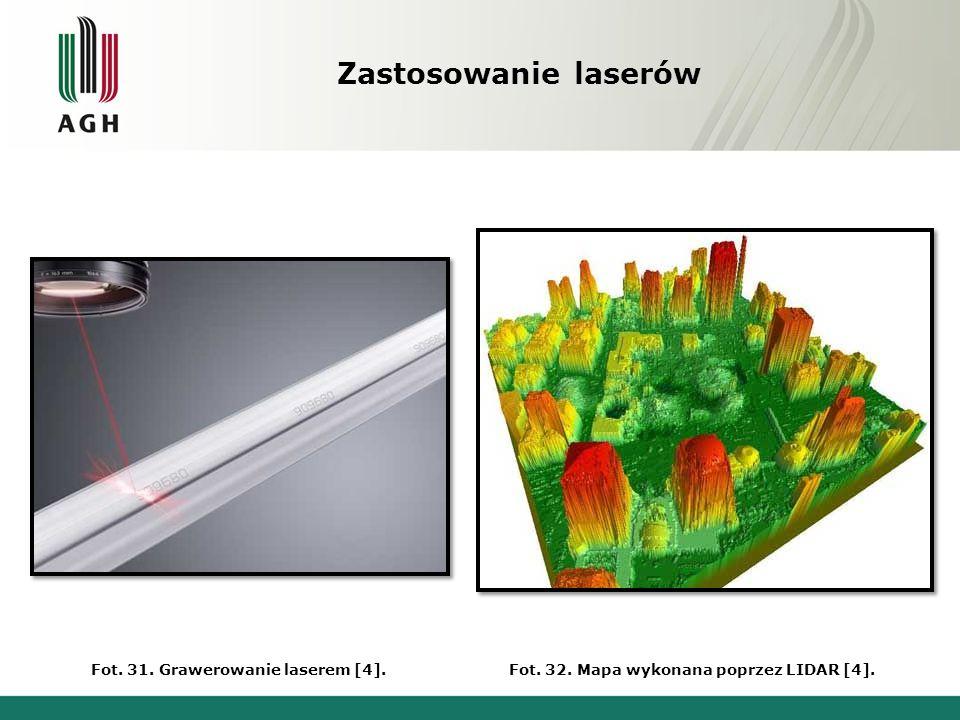 Zastosowanie laserów Fot. 31. Grawerowanie laserem [4].
